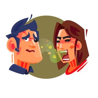 Les gens qui ont mauvaise haleine
