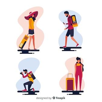 Les gens qui partent en voyage