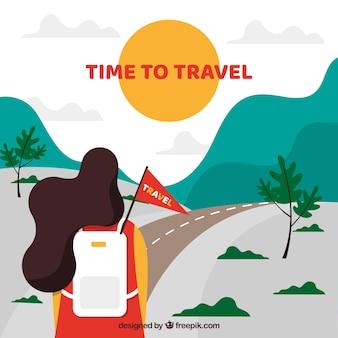 Les gens qui voyagent autour du monde