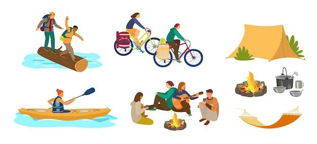 Les gens en randonnée ou en camping.