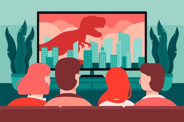 Les gens regardent les nouvelles