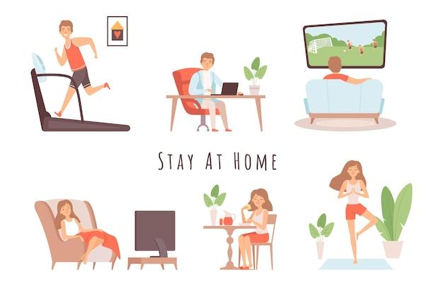 Les gens restent à la maison