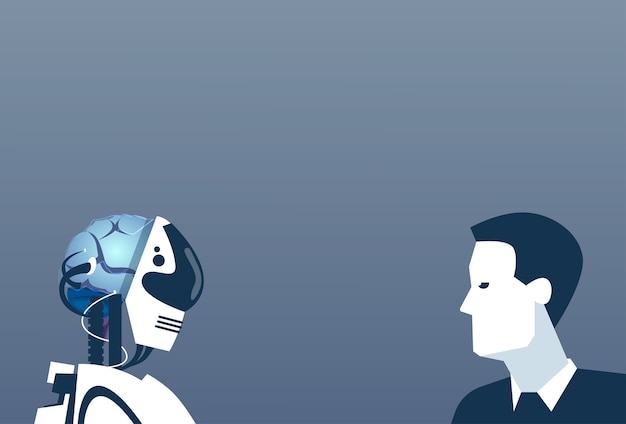 Les gens et les robots