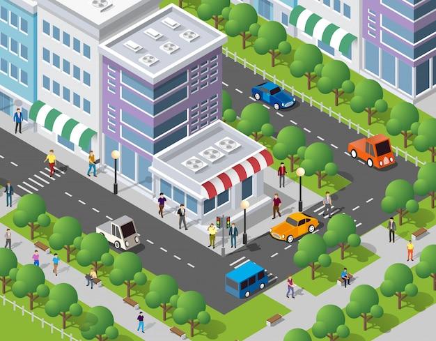 Les gens se promener dans la ville
