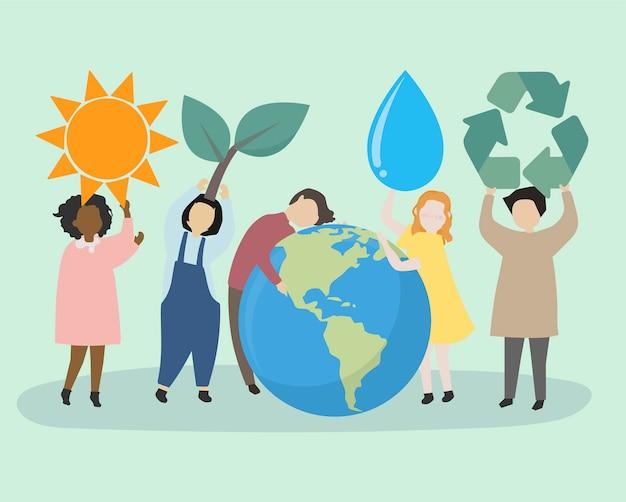 Des gens soucieux du monde et de l'environnement