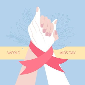 Les gens soutiennent la journée mondiale du sida