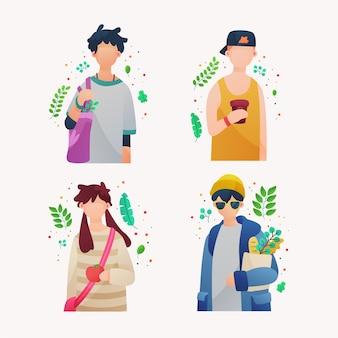 Gens de style de vie vert