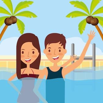 Gens de vacances d'été