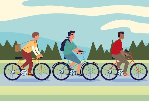 Les gens à vélo