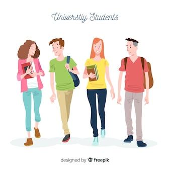 Les gens vont à l'université