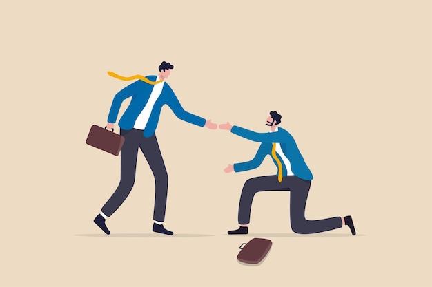 La gentillesse d'aider les autres après un échec ou une crise à se relever