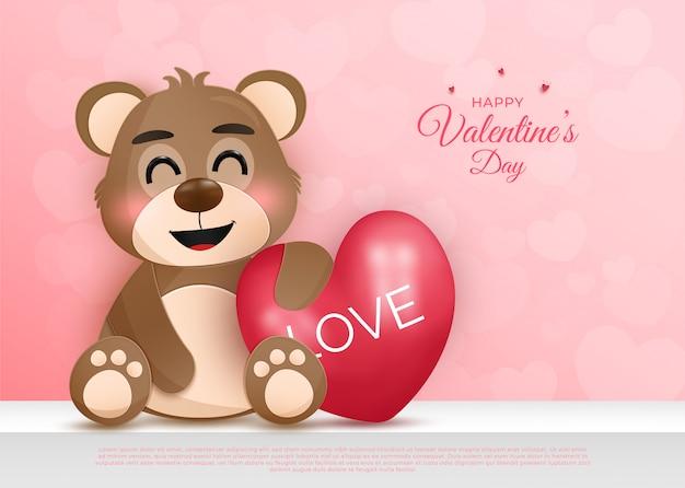 Gentillesse de la carte de valentine de personnage de dessin animé