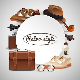 Gentleman accessories realistic frame