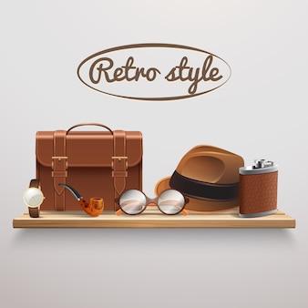 Gentleman accessories realistic shelf