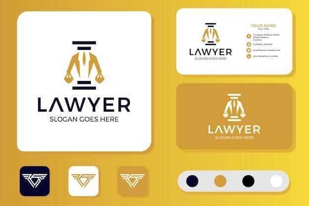 Gentleman lawyer logo design et carte de visite