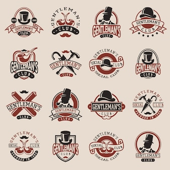 Gentlemans vintage badges
