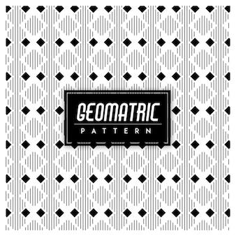 Géomatrique noir et blanc sans soudure de fond
