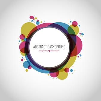 Géométrie abstraite ronde fond