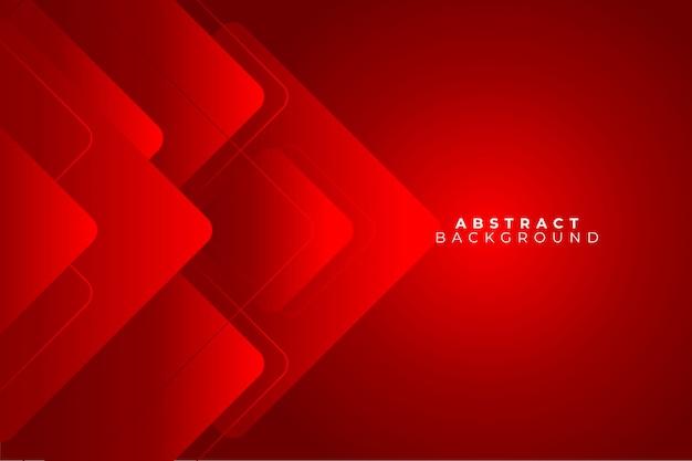 Géométrie de fond abstrait rouge