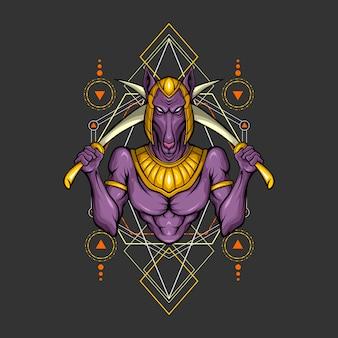 Géométrie sacrée anubis