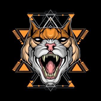 Géométrie sacrée de chat sauvage