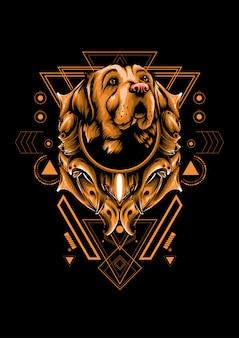 Géométrie sacrée chien