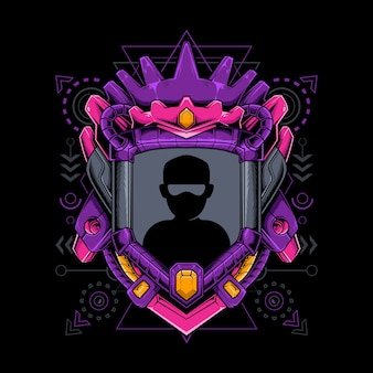 Géométrie sacrée du roi avatar frontière