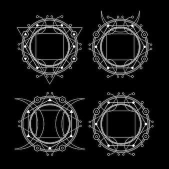 Géométrie sacrée sur l'obscurité