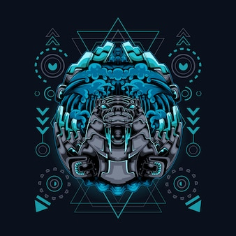 Géométrie sacrée de style walrus cyborg