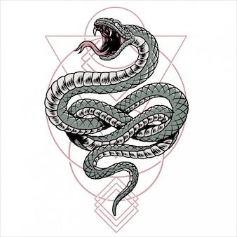 Géométrie de serpent spirituel