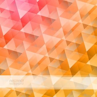 Géométrique abstrait lumineux avec des formes de cristal triangulaires colorées dans l'illustration de style mosaïque