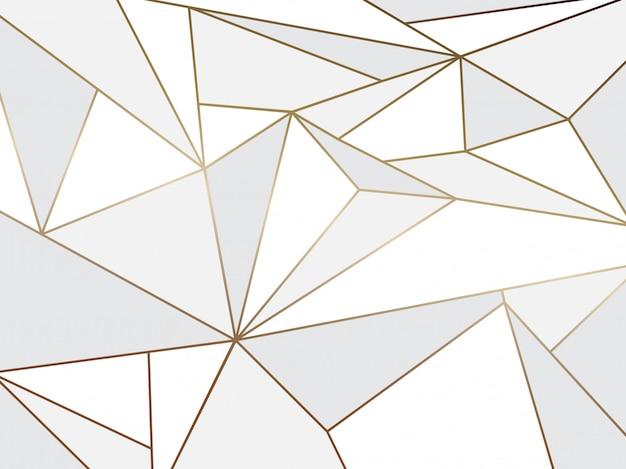 Géométrique artistique abstrait polygone blanc