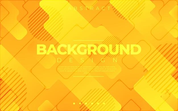 Géométrique dynamique. style 3d de couleur orange