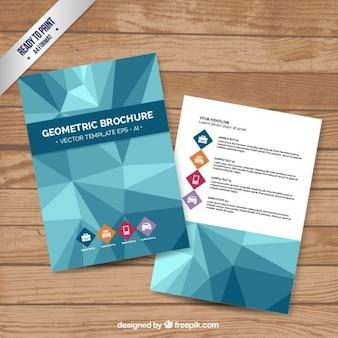 Géométrique modèle de brochure
