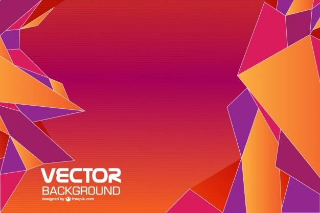 Géométrique vecteur de fond abstrait