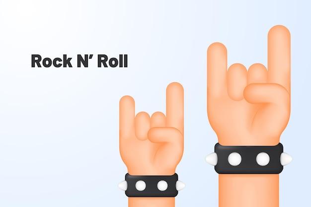 Geste de la main rock and roll