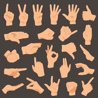 Gestes des mains.