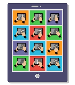Gestes tactiles tablette