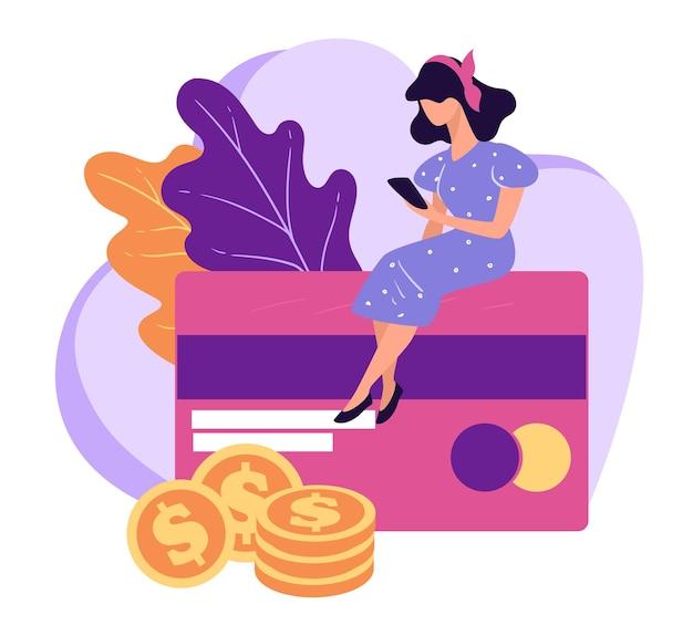Gestion des comptes bancaires et des cartes de crédit avec smartphone
