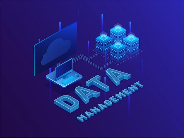 Gestion de données de texte 3d.