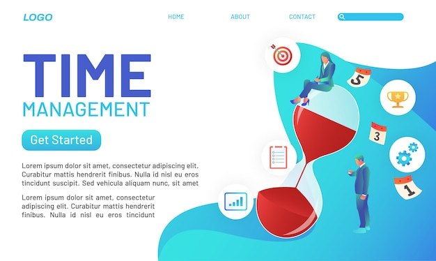 La gestion du temps est très importante dans l'entreprise, parfaite pour les pages de destination et les sites web