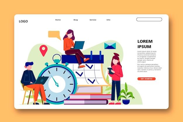 Gestion du temps et page de destination du planificateur