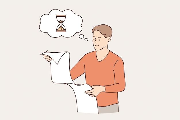Gestion du temps réussie dans le concept d'entreprise