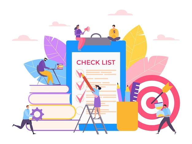 Gestion du temps des tâches et liste de contrôle