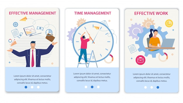 Gestion efficace du temps et travail ensemble de pages mobiles