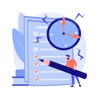 Gestion de projet, achèvement des objectifs, liste de choses à faire. réponse à l'enquête par questionnaire. outil d'organisation d'entreprise