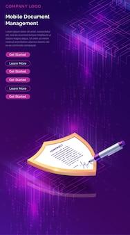 Gestionnaire de documents mobile ou signature électronique