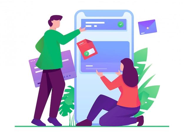 Gestionnaire d'illustrations plates pour développeur mobile