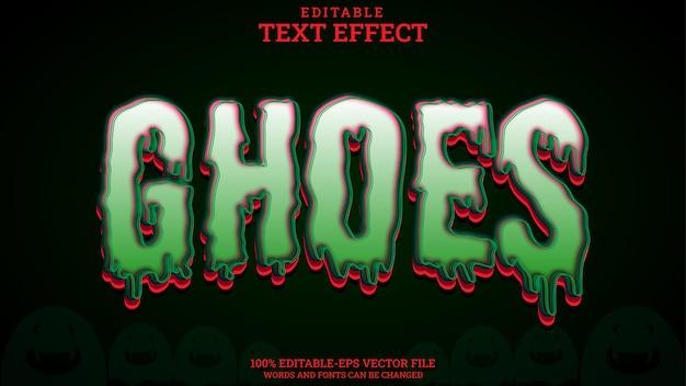 Ghoes modifiables par effet de texte