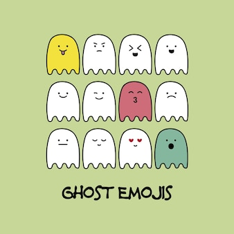 Ghost emojis collection